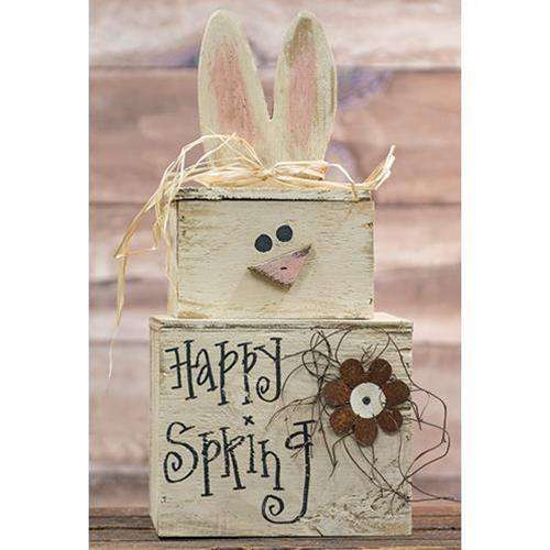 Happy Spring Bunny Stacker Spring Made USA CWI+