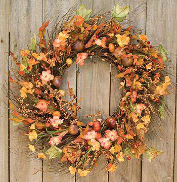 "Harvest Garden Twig Wreath, 18"" Wreaths CWI+"