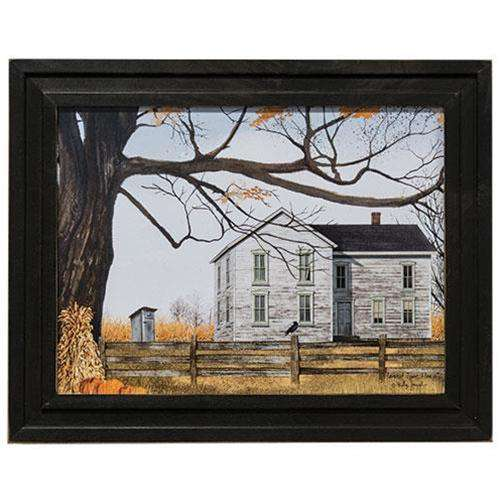 Harvest Time House Framed Print Framed Prints CWI+
