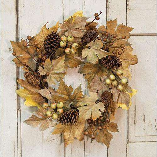 "Harvest Time Wreath, 22"" Wreaths CWI+"