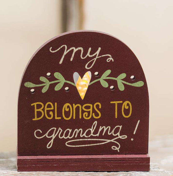 Heart Belongs to Grandma Tealight Holder Wall Decor CWI+