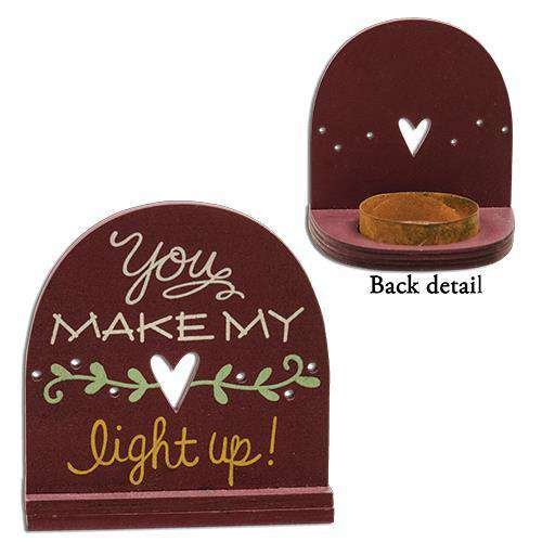 Heart Light Up Tealight Holder Wall Decor CWI+