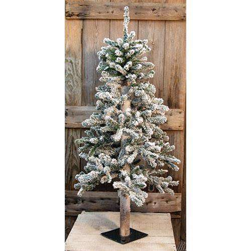 Heavy Flocked Alpine Tree, 4ft Alpines CWI+