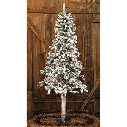 Heavy Flocked Alpine Tree, 6ft Alpines CWI+