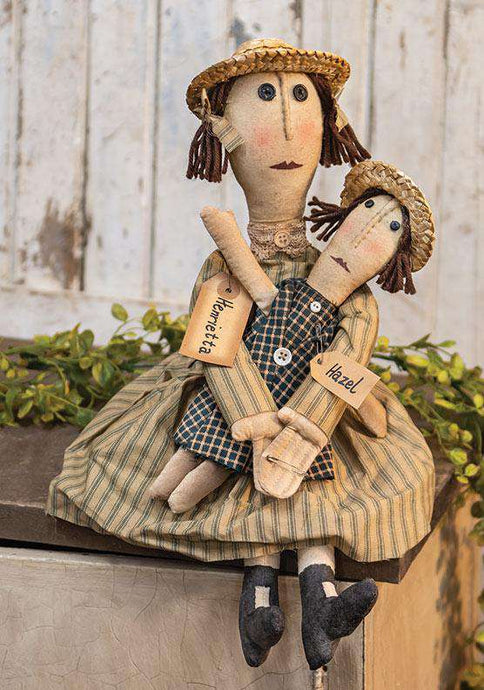 Henrietta & Hazel Doll Country Dolls & Chairs CWI+