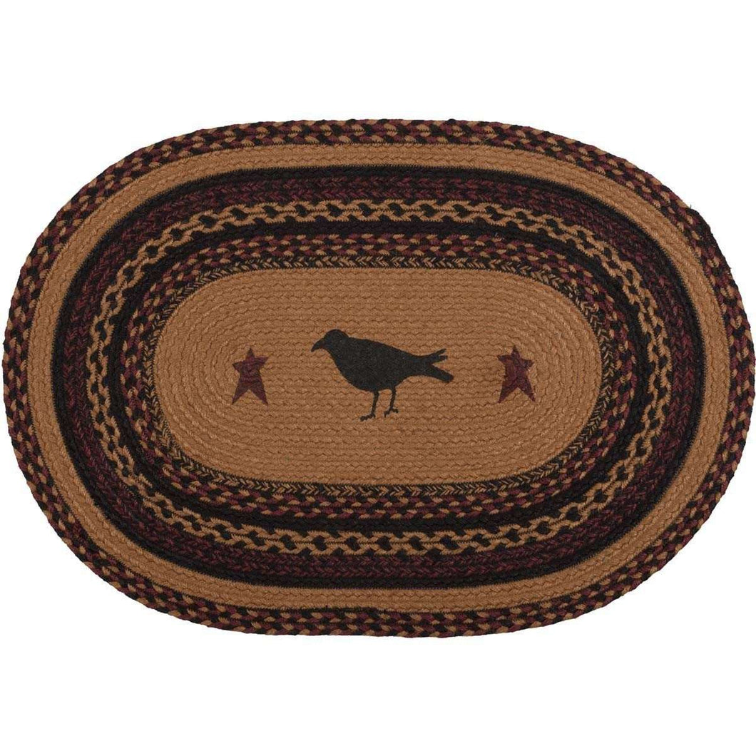 Heritage Farms Crow Jute Braided Rug Oval rugs VHC Brands 20x30 inch