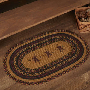Heritage Farms Star and Pip Jute Braided Rug Oval rugs VHC Brands