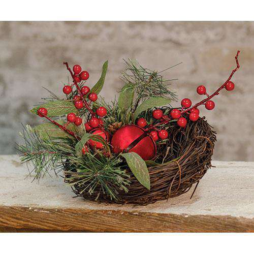 Holiday Brush Pine Bird Nest Florals CWI+