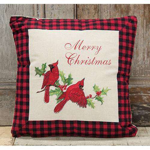 *Holiday Cardinal Pillow, 16