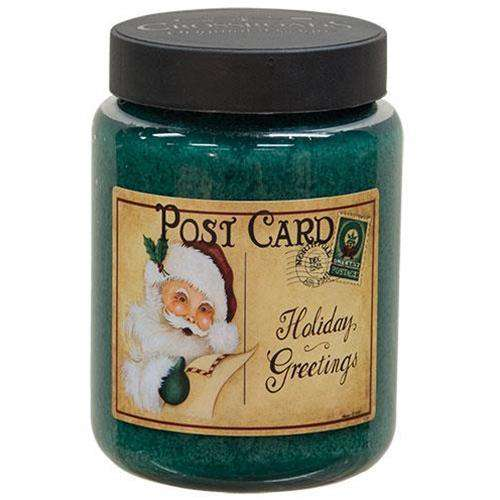Holiday Greetings Jar Candle, 26oz Art Label Candles CWI+