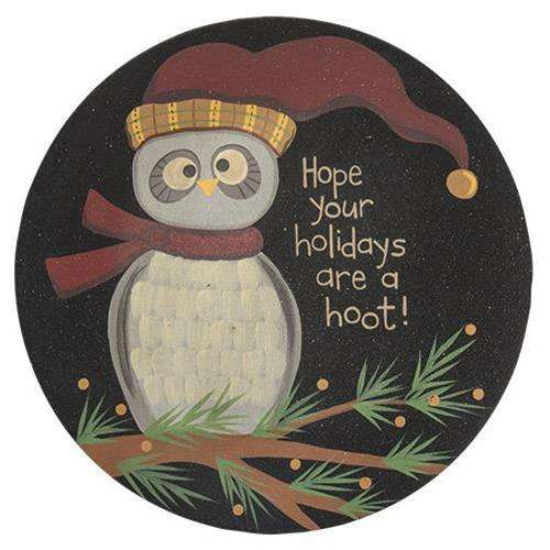 Holiday Owl Plate Plates & Holders CWI+