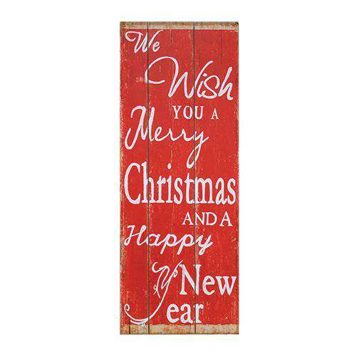 Holiday Wishes Wooden Sign Wall CWI+