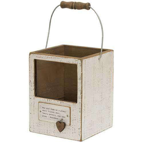 Home Charm Lantern Box, 2 Asst. Wood CWI+