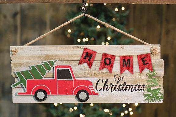 Home for Christmas Hanging Sign Wall CWI+