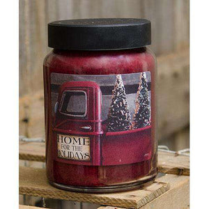 Home for Holidays Jar Candle, 26oz Christmas Candles CWI+