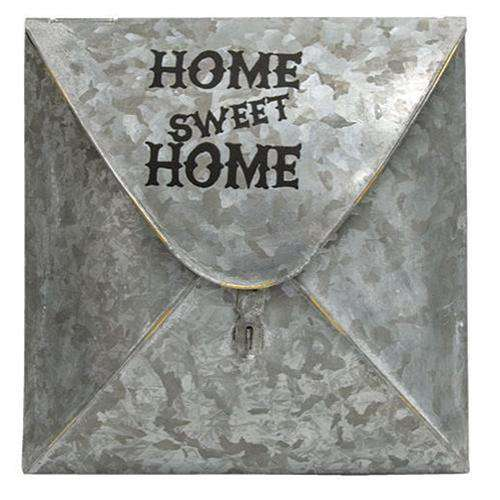 Home Sweet Home Galvanized Envelope Post Box Mail and Post Boxes CWI+