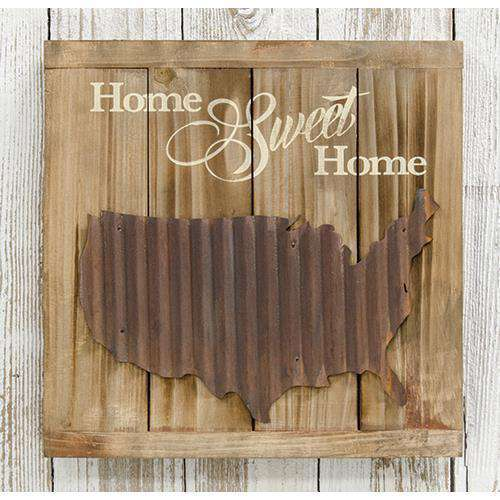 Home Sweet Home Slat Sign HS Plates & Signs CWI+