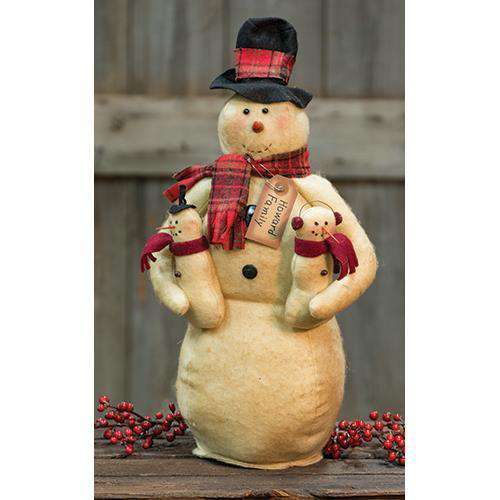 Howard Snowman Family Tabletop & Decor CWI+