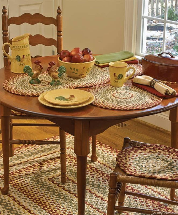 Mill Village Braided Chair pad Set of 4