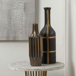 Iberia Black And Gold Vase