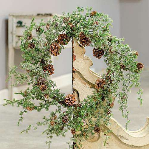 "Icy Stowe Cedar Wreath, 24"" New Christmas CWI+"