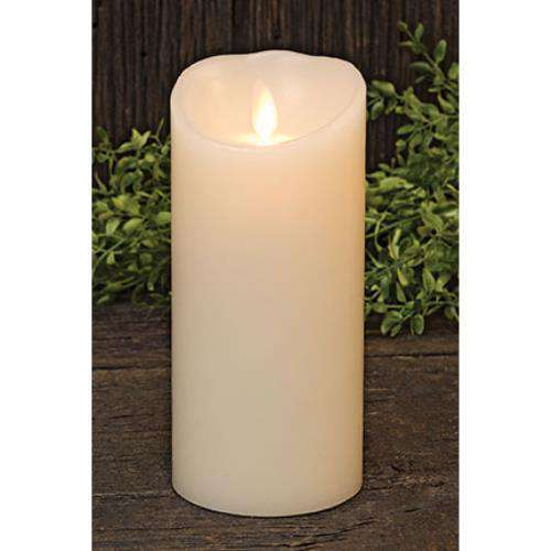 "Ivory Luminara Candle, 6"" Timer Tapers & Pillars CWI+"