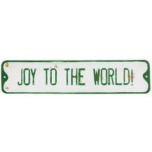 Joy to the World Street Sign Vintage Christmas Decor CWI+