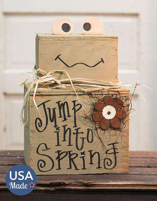 Jump Into Spring Froggy Stacker Spring Made USA CWI+