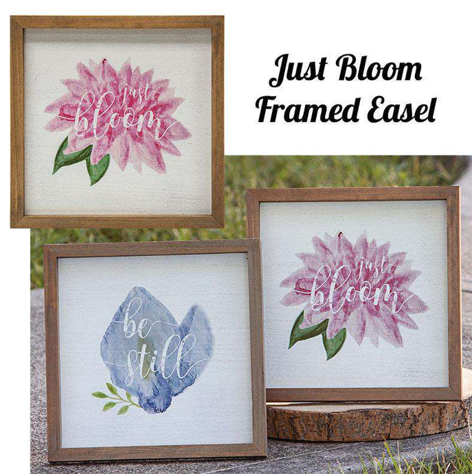 *Just Bloom Framed Easel, 2 Asst. Pictures & Signs CWI+