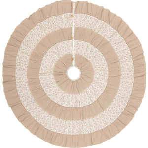 Carol Christmas Tree Skirt 60 VHC Brands