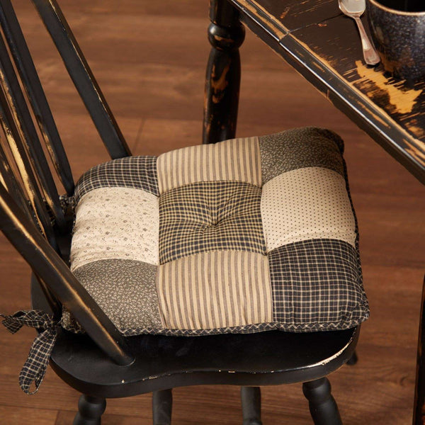 Kettle Grove Country Chair Pad Patchwork Chair Pad VHC Brands