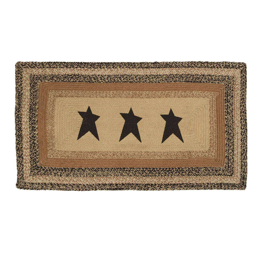 Kettle Grove Jute Braided Rectangle Stencil Star VHC Brands Rugs VHC Brands 27