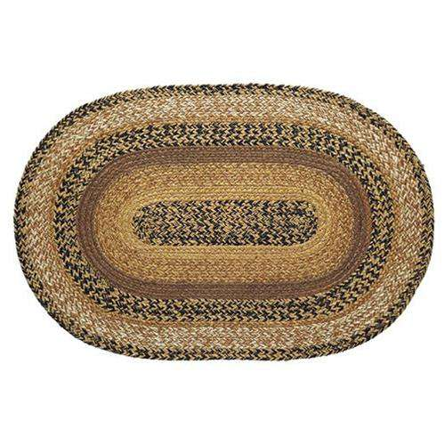 Kettle Grove Jute Oval Braided Rug VHC Brands rugs CWI Gifts 20x30 inch