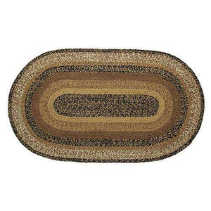 Kettle Grove Jute Oval Braided Rug VHC Brands rugs CWI Gifts 24x36 inch
