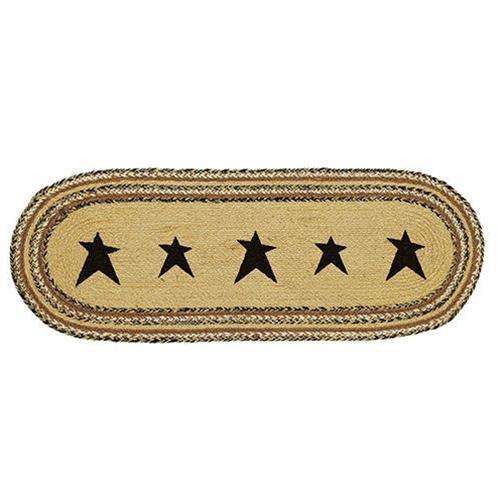 Kettle Grove Stencil Star Runner, 13x36 Tabletop CWI+