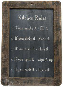 Kitchen Rules Blackboard Pictures & Signs CWI+