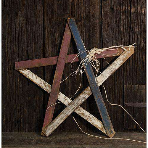 "Lath Americana Star, 24"" Tabletop & Decor CWI+"