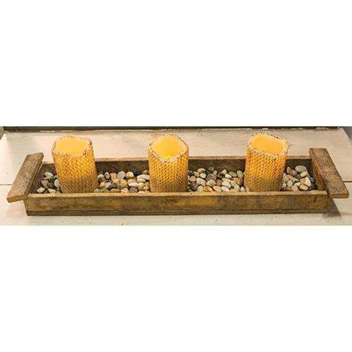 Lath Centerpiece Tray Wood CWI+