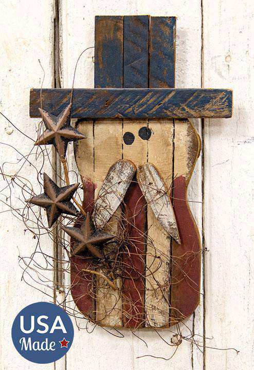 "Lath Chubby Hanging Uncle Sam, 16"" H General CWI+"