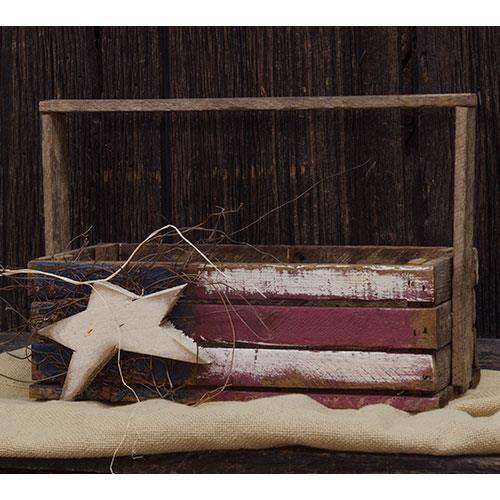 "Lath Flag Tote, 16"" Tabletop & Decor CWI+"