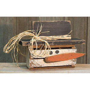 Lath Horizontal Crate Snowman Tabletop & Decor CWI+