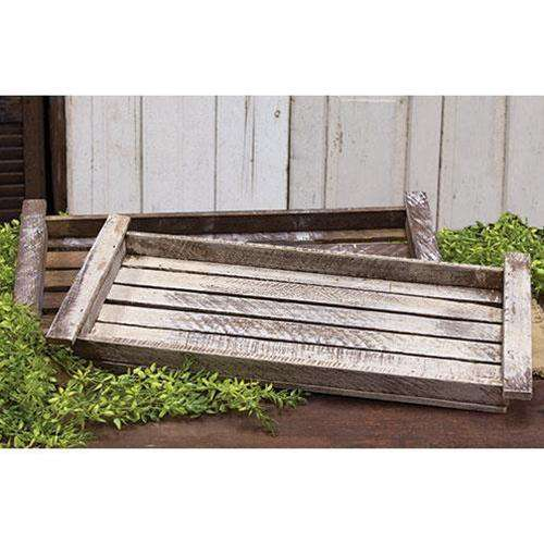 Lath Picnic Tray, Assorted Wood CWI+