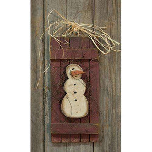Lath Snowman Shutter Wall Decor CWI+