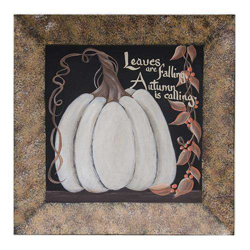 Leaves are Falling Pumpkin Plate Plates & Holders CWI+