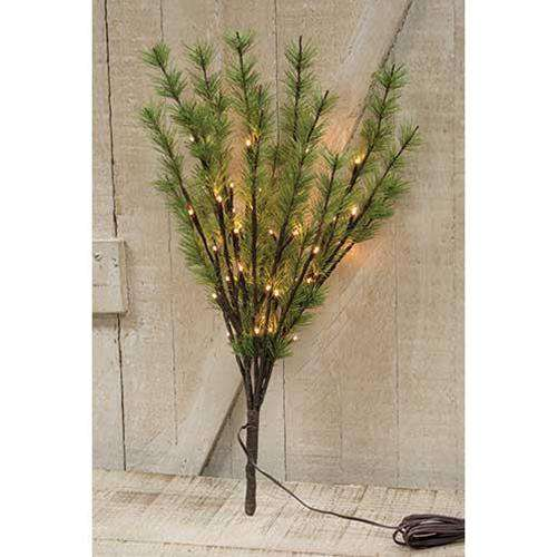 LED Pine Branch, 40ct Lighted Branches CWI+