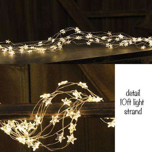 LED Star Light String, 360ct, 10 ft Light Strands CWI+