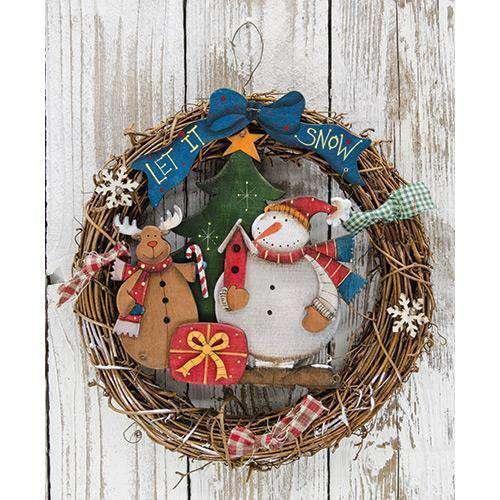 "Let It Snow Wreath, 10"" Wall CWI+"