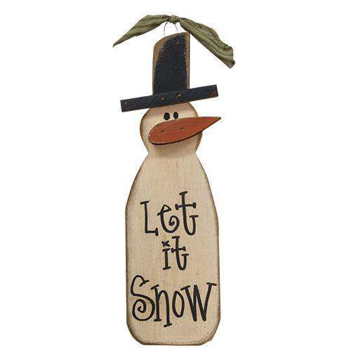 "Let It Snowman, 18"" Wall CWI+"