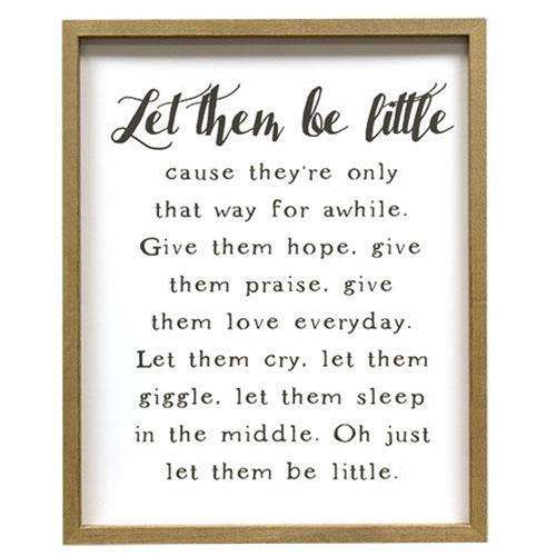 Let Them Be Little Framed Print USA Made Signs CWI+