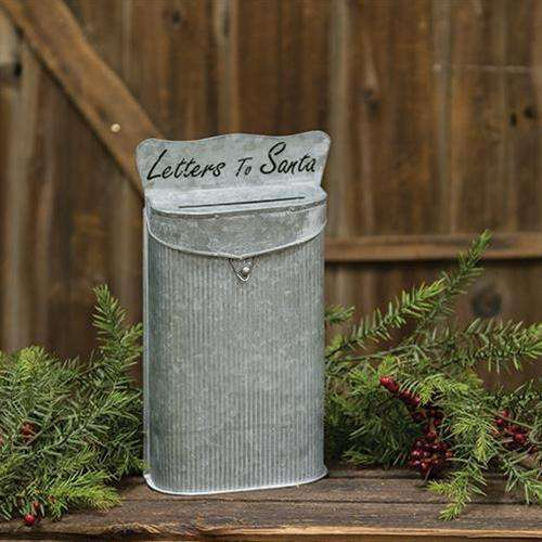 Letters to Santa Galvanized Metal Post Box Mail and Post Boxes CWI+